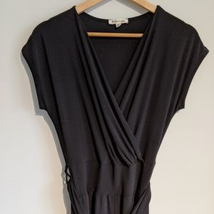 Rolla Coster Black Shirtsleeve Wrap Jumpsuit